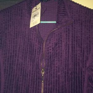 Woolrick Womens Cord- wide zip up NWT jacket !